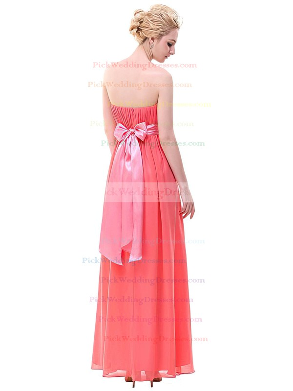 Chiffon Strapless Floor-length Empire with Sashes / Ribbons Bridesmaid Dresses #PWD01013378