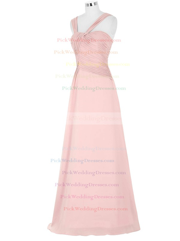Chiffon Sweetheart Floor-length A-line with Pleats Bridesmaid Dresses #PWD01013395