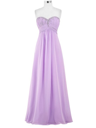 Chiffon Sweetheart Floor-length Empire with Beading Bridesmaid Dresses #PWD01013421