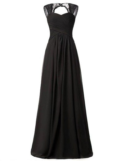 Lace|Chiffon Sweetheart Floor-length A-line with Ruffles Bridesmaid Dresses #PWD01013427