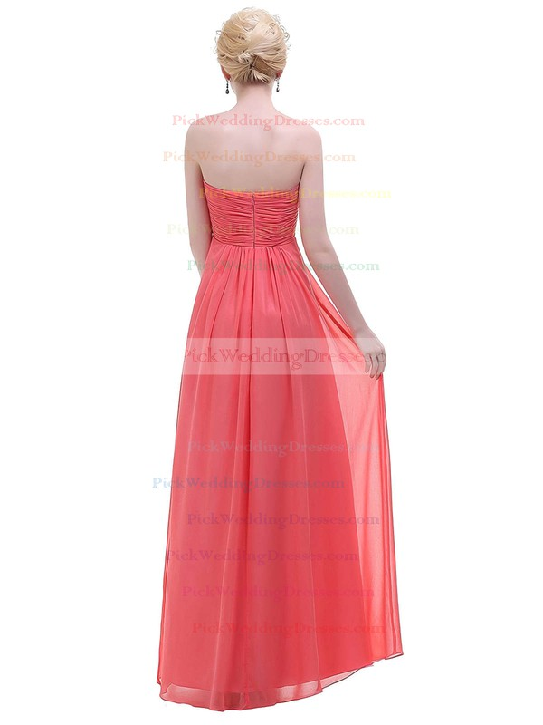 Chiffon Empire Sweetheart Floor-length with Ruffles Bridesmaid Dresses #PWD01013447