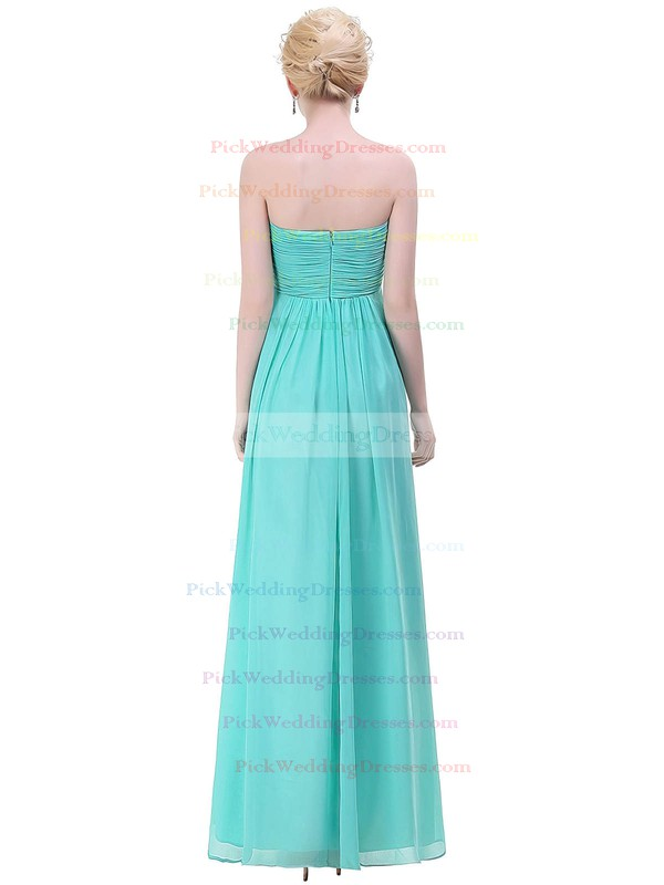 Chiffon Empire Sweetheart Floor-length with Ruffles Bridesmaid Dresses #PWD01013448