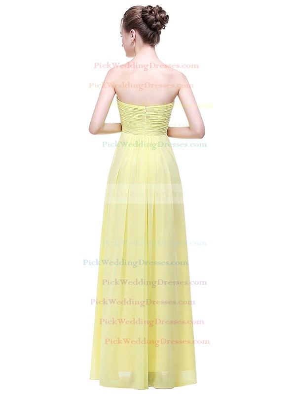 Chiffon Empire Sweetheart Floor-length with Ruffles Bridesmaid Dresses #PWD01013449