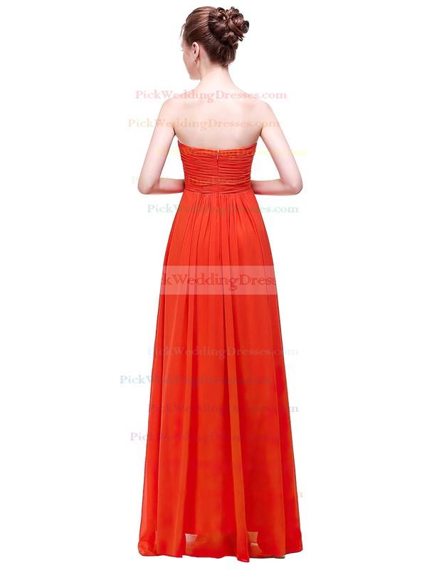 Chiffon Empire Sweetheart Floor-length with Ruffles Bridesmaid Dresses #PWD01013450