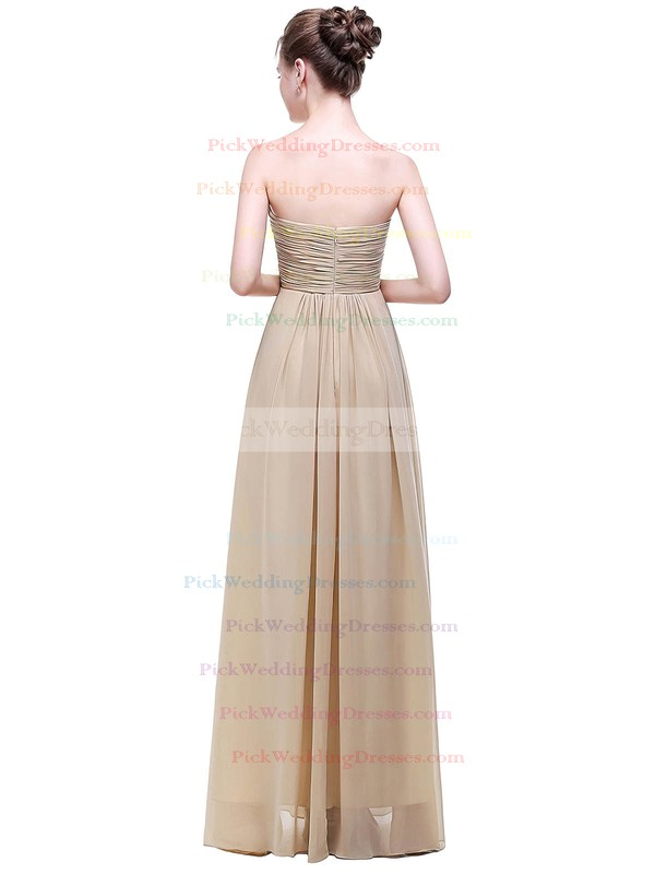 Chiffon Empire Sweetheart Floor-length with Ruffles Bridesmaid Dresses #PWD01013452