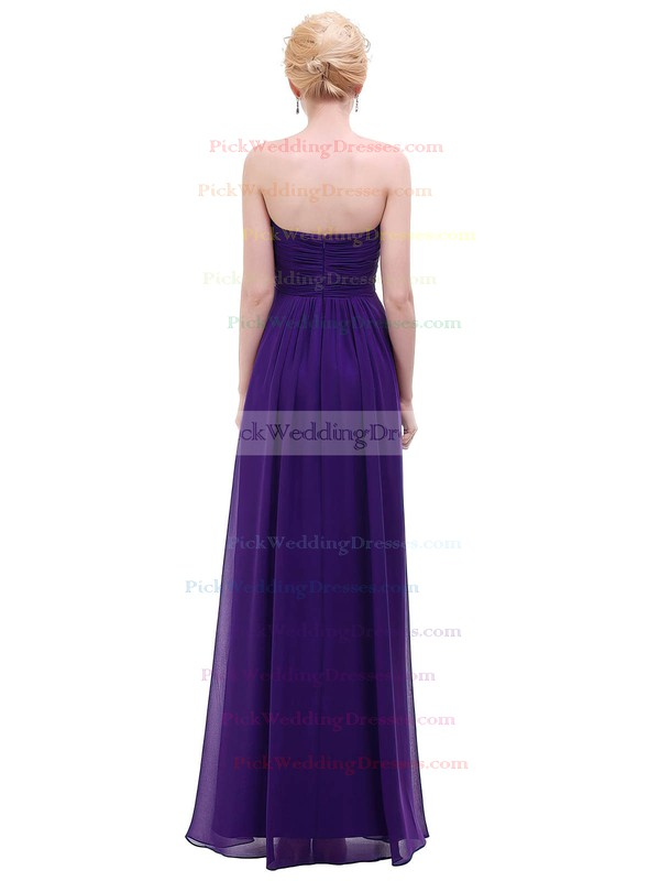 Chiffon Empire Sweetheart Floor-length with Ruffles Bridesmaid Dresses #PWD01013453