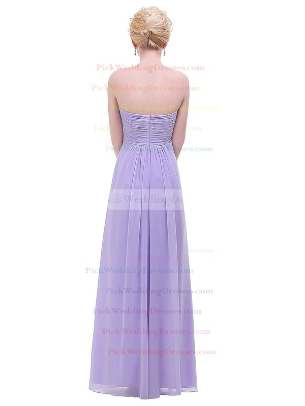 Chiffon Empire Sweetheart Floor-length with Ruffles Bridesmaid Dresses #PWD01013454