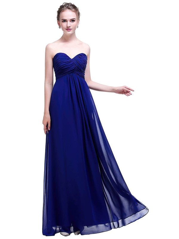 Chiffon Empire Sweetheart Floor-length with Ruffles Bridesmaid Dresses #PWD01013457