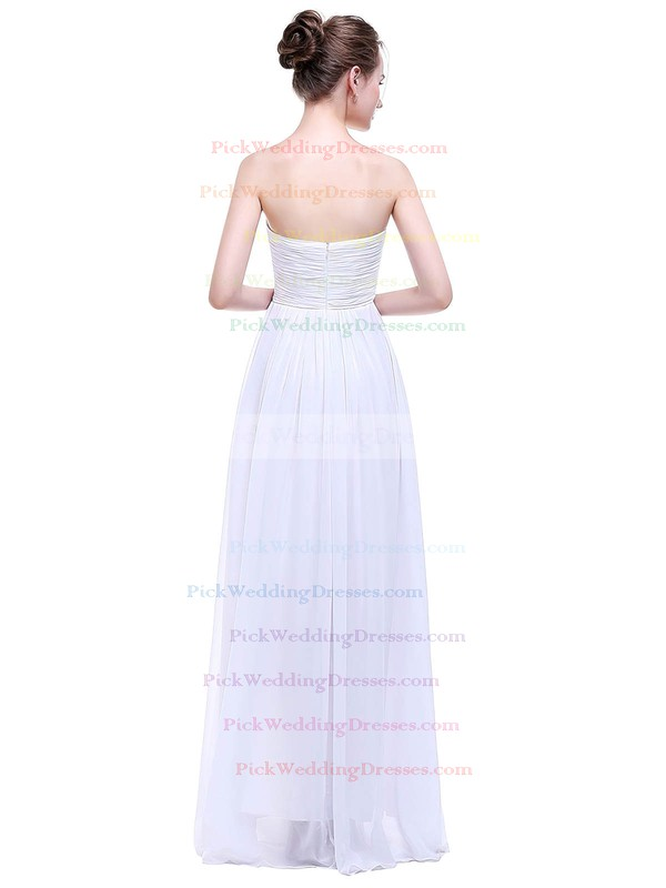 Chiffon Empire Sweetheart Floor-length with Ruffles Bridesmaid Dresses #PWD01013458