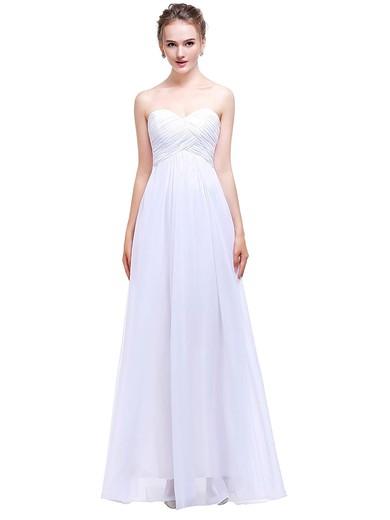 Chiffon Empire Sweetheart Floor-length with Ruffles Bridesmaid Dresses #PWD01013458