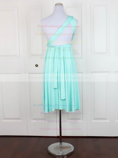Jersey V-neck Short/Mini A-line with Ruffles Bridesmaid Dresses #PWD01013129