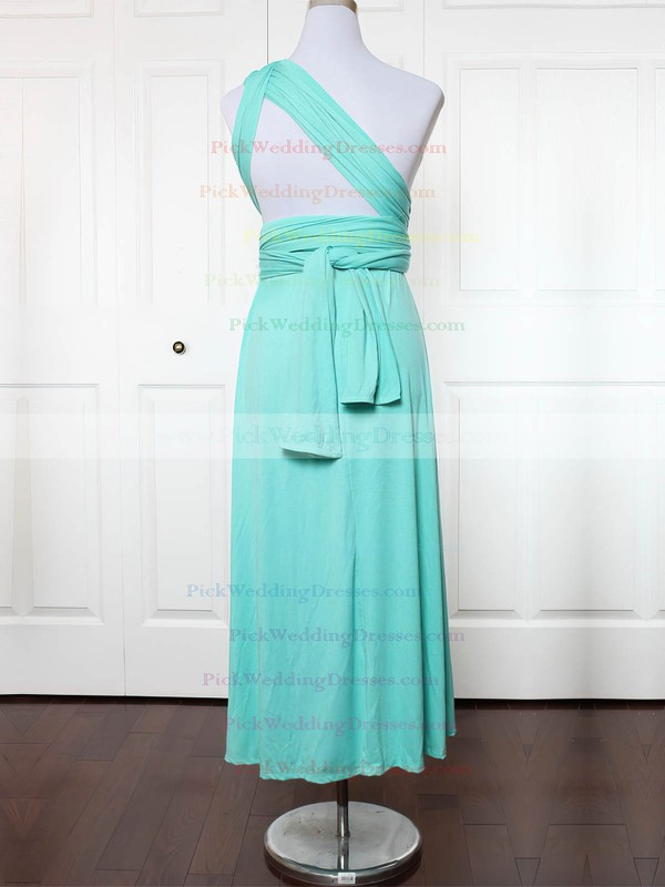 Jersey One Shoulder Ankle-length A-line with Ruffles Bridesmaid Dresses #PWD01013132