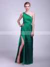 A-line Floor-length Satin Draping One Shoulder Bridesmaid Dresses #PWD02013609