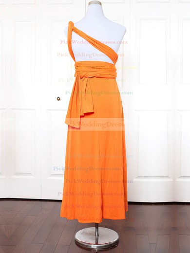 Jersey One Shoulder Ankle-length Empire with Ruffles Bridesmaid Dresses #PWD01013134