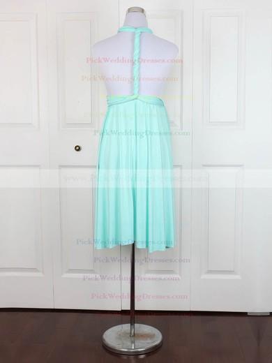 Jersey V-neck Short/Mini Empire with Ruffles Bridesmaid Dresses #PWD01013138