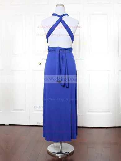 Jersey One Shoulder Ankle-length A-line with Ruffles Bridesmaid Dresses #PWD01013144