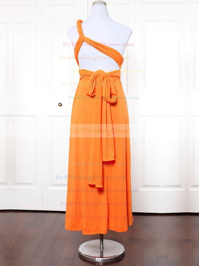 Jersey One Shoulder Ankle-length A-line with Ruffles Bridesmaid Dresses #PWD01013145