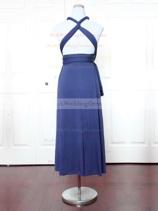 Jersey V-neck Ankle-length A-line with Ruffles Bridesmaid Dresses #PWD01013147