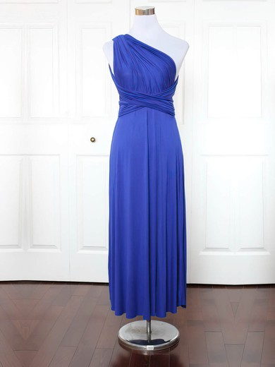 Jersey One Shoulder Ankle-length A-line with Ruffles Bridesmaid Dresses #PWD01013149