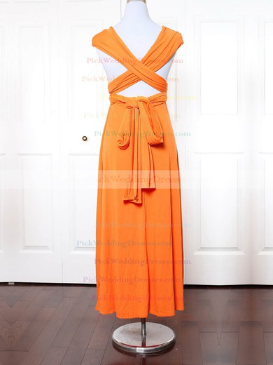 Jersey V-neck Ankle-length Empire with Ruffles Bridesmaid Dresses #PWD01013154