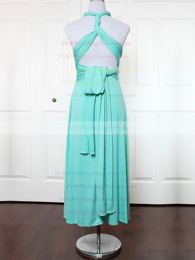 Jersey V-neck Ankle-length A-line with Ruffles Bridesmaid Dresses #PWD01013156
