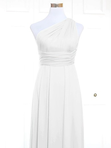 Jersey One Shoulder Short/Mini A-line with Ruffles Bridesmaid Dresses #PWD01013157