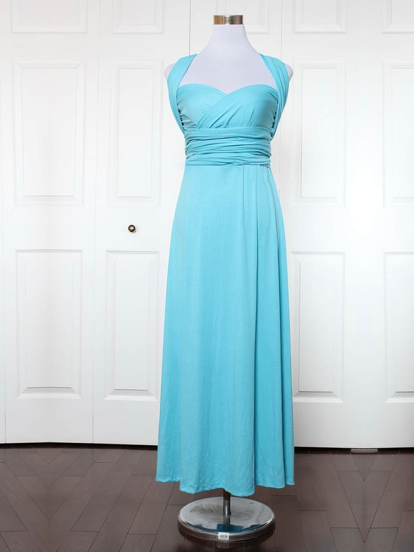 Jersey Sweetheart Ankle-length Empire with Ruffles Bridesmaid Dresses #PWD01013172