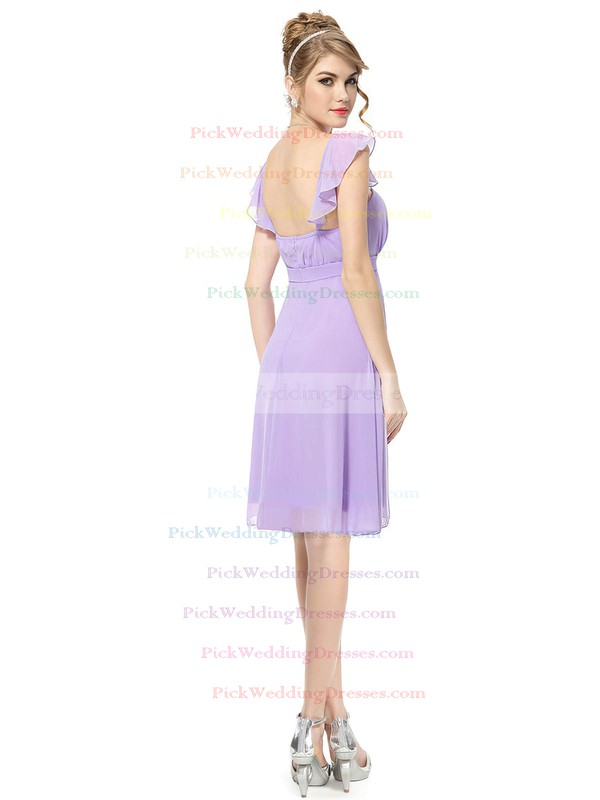 Chiffon Square Neckline Short/Mini Empire with Ruffles Bridesmaid Dresses #PWD01013392