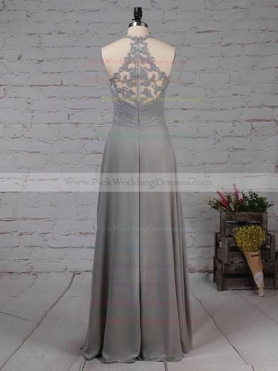 Chiffon Tulle V-neck Floor-length Empire Ruffles Bridesmaid Dresses #PWD01013463