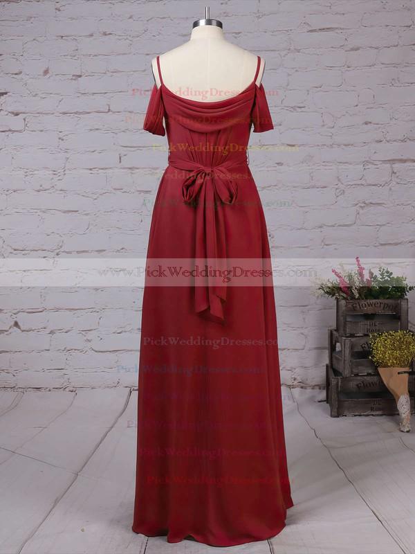 Chiffon V-neck Floor-length A-line Sashes / Ribbons Bridesmaid Dresses #PWD01013464