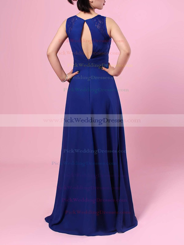 Chiffon V-neck Floor-length A-line Lace Bridesmaid Dresses #PWD01013483