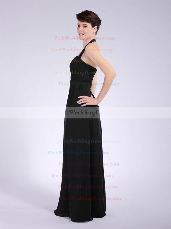 Sheath/Column Floor-length Chiffon Draping Halter Bridesmaid Dresses #PWD01012041