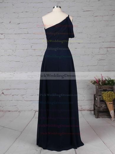 Chiffon One Shoulder Floor-length A-line Ruffles Bridesmaid Dresses #PWD01013484