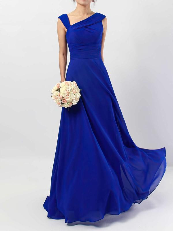 Chiffon V-neck Floor-length A-line Ruffles Bridesmaid Dresses #PWD01013522
