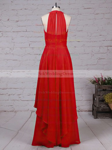 Chiffon V-neck Floor-length A-line Ruffles Bridesmaid Dresses #PWD01013526