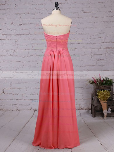 Chiffon Sweetheart Floor-length Empire Ruffles Bridesmaid Dresses #PWD01013531