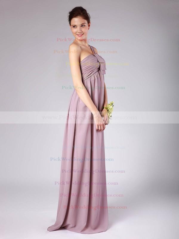 A-line Floor-length Chiffon Pleats Strapless Bridesmaid Dresses #PWD02013604