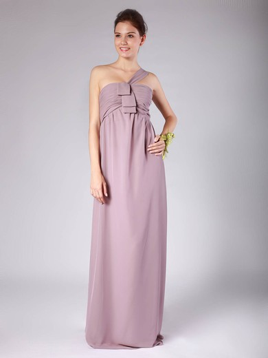 A-line Floor-length Chiffon Pleats Strapless Bridesmaid Dresses #PWD02013604