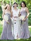 Tulle Sweetheart Floor-length A-line Sashes / Ribbons Bridesmaid Dresses #PWD01013685