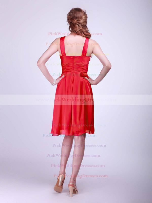Empire Knee-length Satin Sashes/Ribbons Halter Bridesmaid Dresses #PWD02013610
