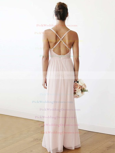 Chiffon V-neck Floor-length A-line Bridesmaid Dresses #PWD01013708
