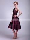 A-line Tea-length Taffeta Flower(s) One Shoulder Bridesmaid Dresses #PWD02013611
