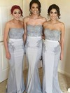 Silk-like Satin Sweetheart Sweep Train Trumpet/Mermaid Beading Bridesmaid Dresses #PWD01013713