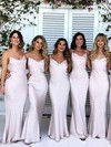 Silk-like Satin Cowl Neck Floor-length Trumpet/Mermaid Bridesmaid Dresses #PWD01013717