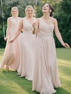 Chiffon One Shoulder Floor-length A-line Ruffles Bridesmaid Dresses #PWD01013618
