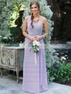 Chiffon One Shoulder Floor-length A-line Ruffles Bridesmaid Dresses #PWD01013618