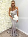 Silk-like Satin Strapless Sweep Train Trumpet/Mermaid Bridesmaid Dresses #PWD01013658