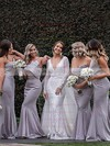 Silk-like Satin Strapless Sweep Train Trumpet/Mermaid Bridesmaid Dresses #PWD01013658