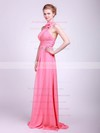 Empire Floor-length Chiffon Flower(s) Halter Bridesmaid Dresses #PWD02013629