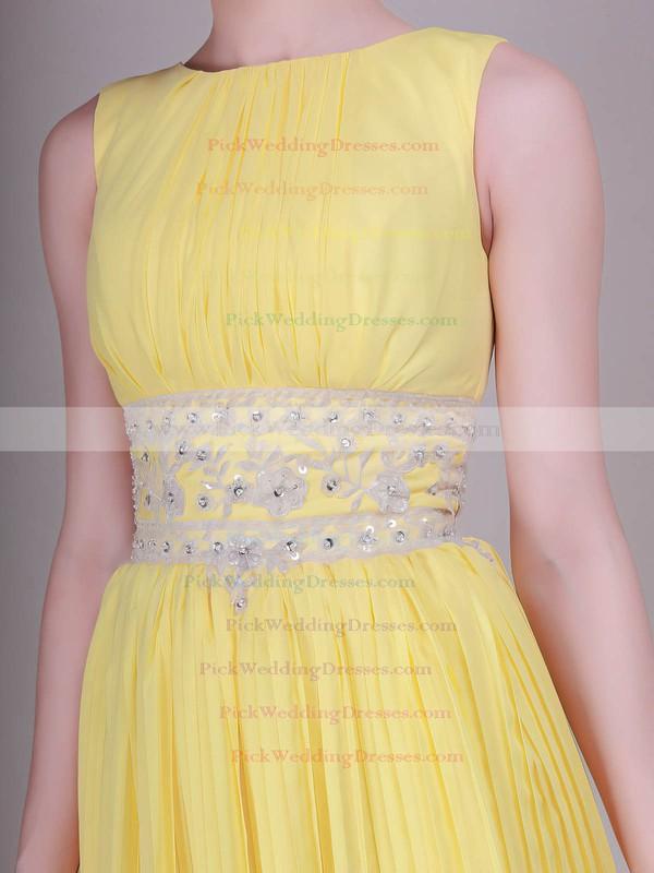 Sheath/Column Short/Mini Organza Ruffles Bateau Bridesmaid Dresses #PWD02013633